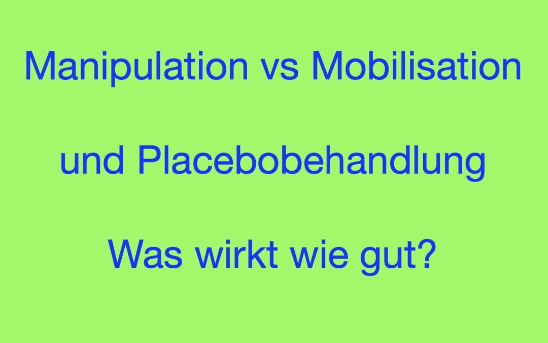 Manipulation vs Mobilisation bei chronischen Rückenschmerzen